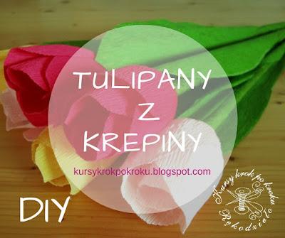 Tulipany i żonkile z krepiny i bibuły – DIY