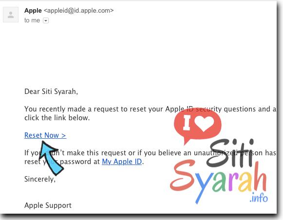 cara ganti pertanyaan rahasia akun apple iphone