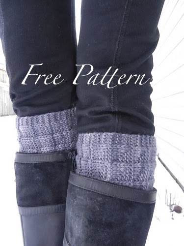 Kriskrafter free knit pattern 2 needle boot toppers cuffs make second topper the same way dt1010fo