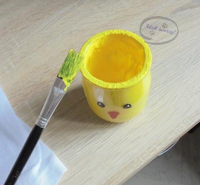 Wielkanocny świecznik DIY ze słoika