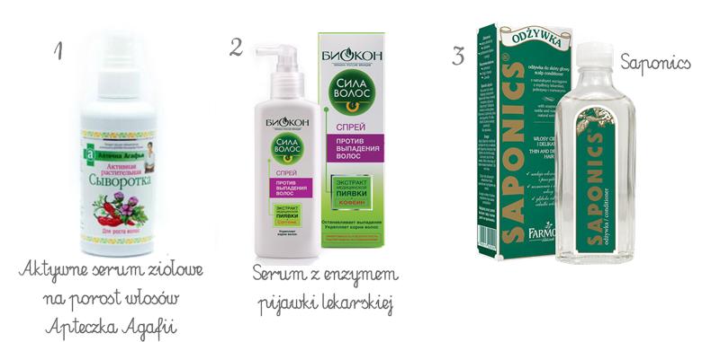 odżywki do skóry głowy, Saponics, enzym pijawki lekarskiej, serum ziołowe Agafii