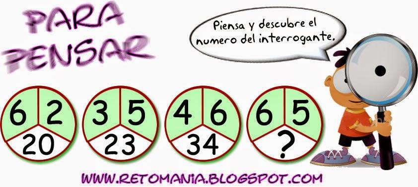 Para pensar, Piensa rápido, Sólo para genios, Descubre el número, Retos matemáticos, Desafíos matemáticos, Problemas matemáticos, Problemas para pensar, Problemas de lógica