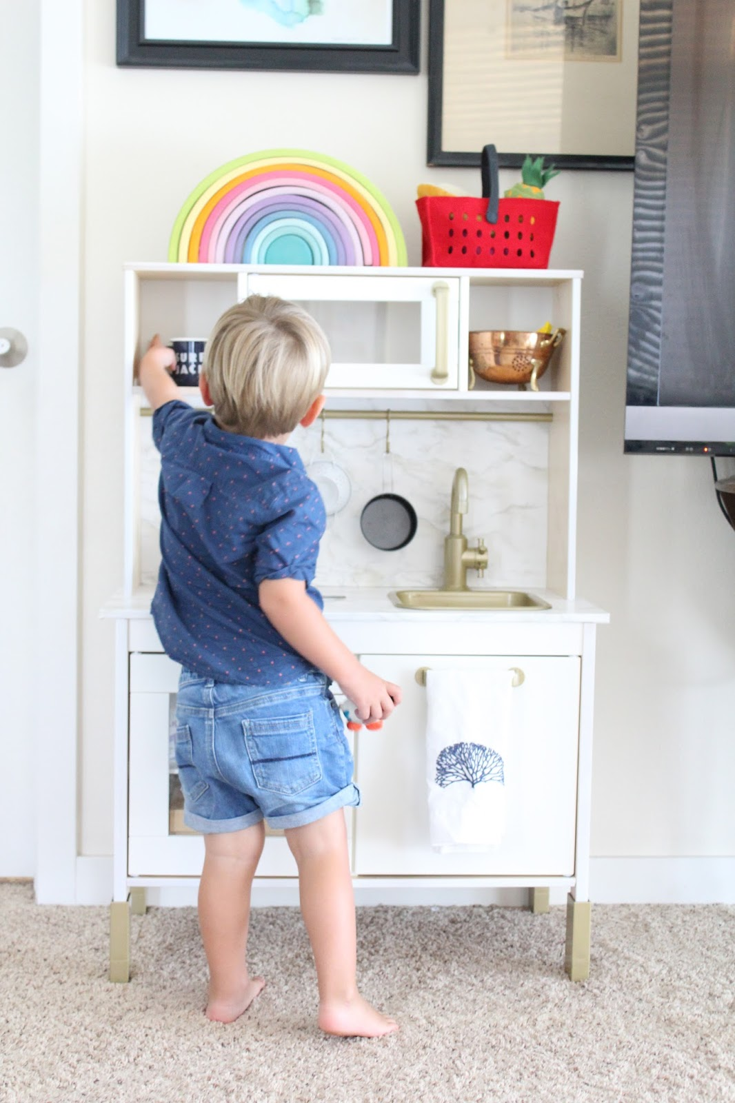Life with a Dash of Whimsy: IKEA Play Kitchen Hack