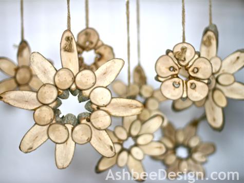 Ashbee Design Variation Wood Slice Flowers