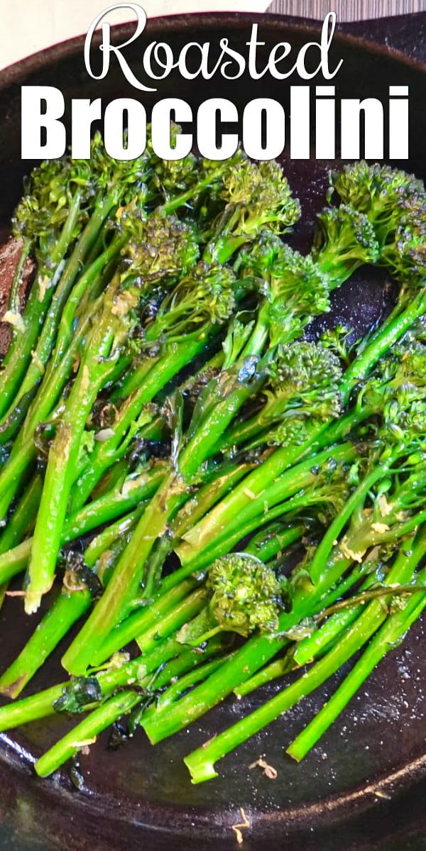 Roasted Broccolini Recipe with Garlic and Lemon is a family favorite easy side dish from Serena Bakes Simply From Scratch.