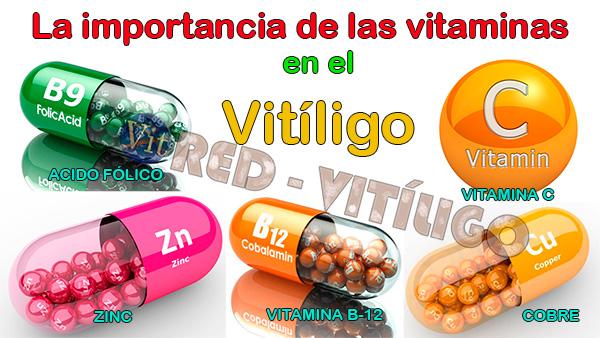 La importancia de las vitaminas B12, Ácido fólico, Vitamina C, Cobre y Zinc en el Vitiligo