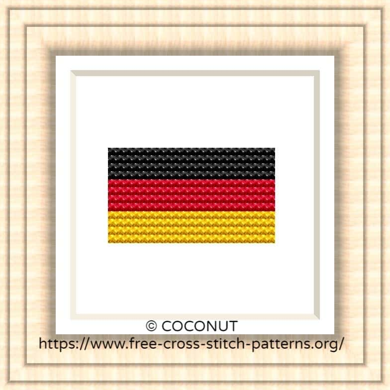 NATIONAL FLAG OF GERMANY CROSS STITCH CHART