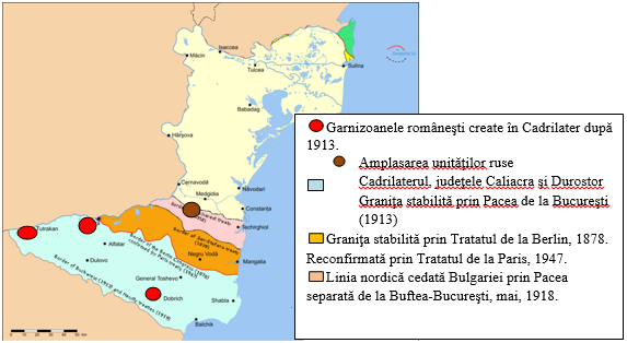Harta Tinuturile dintre Dunare si Mare Primul razboi Mondial