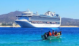 The Ruby Princess cruise ship in Cabo San Lucas
