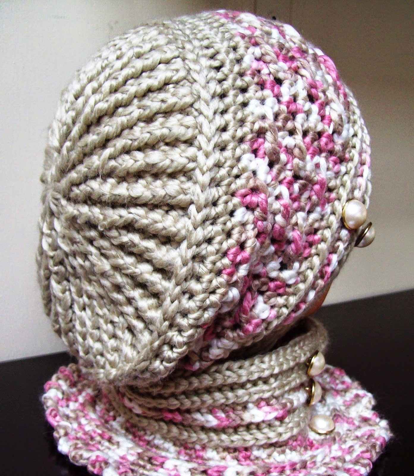 Robyn's Beret and Polo Style Neck Warmer Free Crochet Pattern