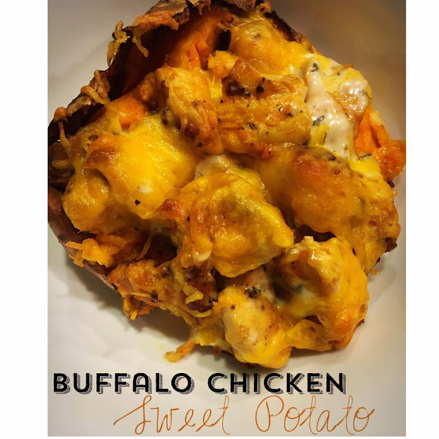 clean eating, buffalo chicken, sweet potato recipes, buffalo chicken crockpot recipes, sarah griffith, top beachbody coach,