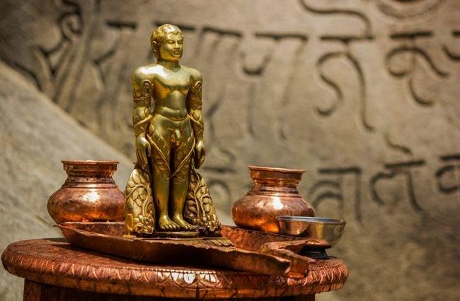 Idol Of Gommateshwara In The Temple