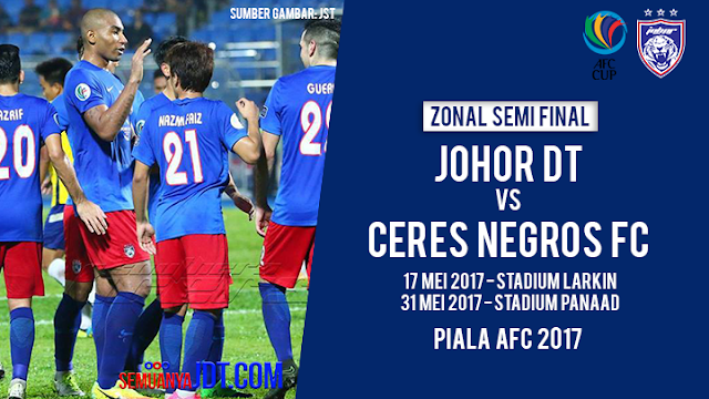 Live Streaming Keputusan Ceres Negros vs JDT 31 Mei 2017