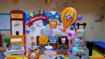 Background / backdrop styrofoam tematik 3 dimensi acara ulang tahun anak