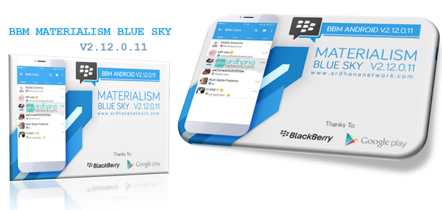 Tema BBM Terbaru - BBM MOD Materialism Blue 2.12.0.11 APK
