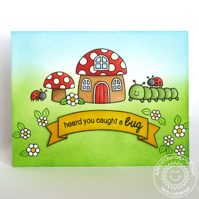 Sunny Studio Stamps Backyard Bugs Heard You Caught A Bug Ladybug Card