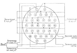 Электрическая схема соединений блока управления БУ-21