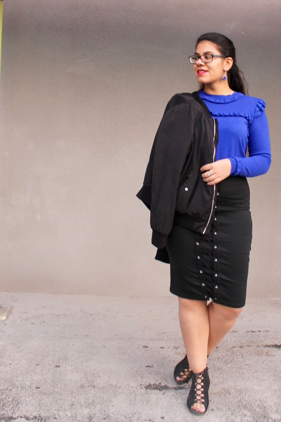 Black & Blue Outfit Inspiration