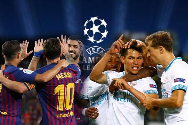 Live Streaming Barcelona vs PSV Champion League 18.9.2018