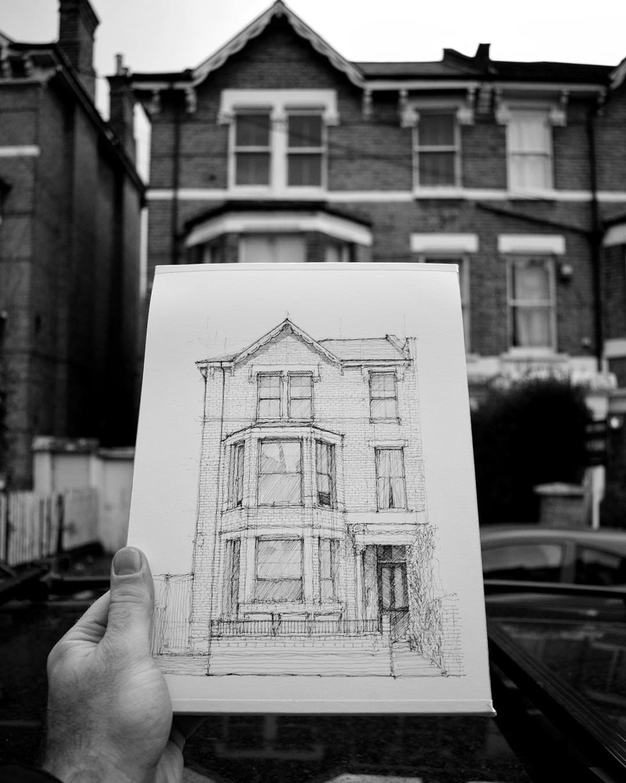 15-Victorian-House-Luke-Adam-Hawker-Architectural-Illustration-of-Imposing-Buildings-www-designstack-co