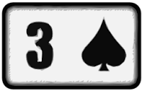 three of spades playing card