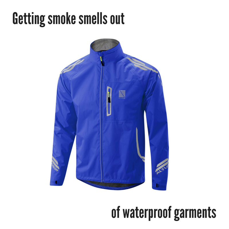 How to remove smoke smell from waterproof garments