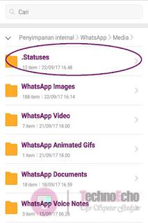 cara melihat story wa tanpa ketahuan lewat file manager