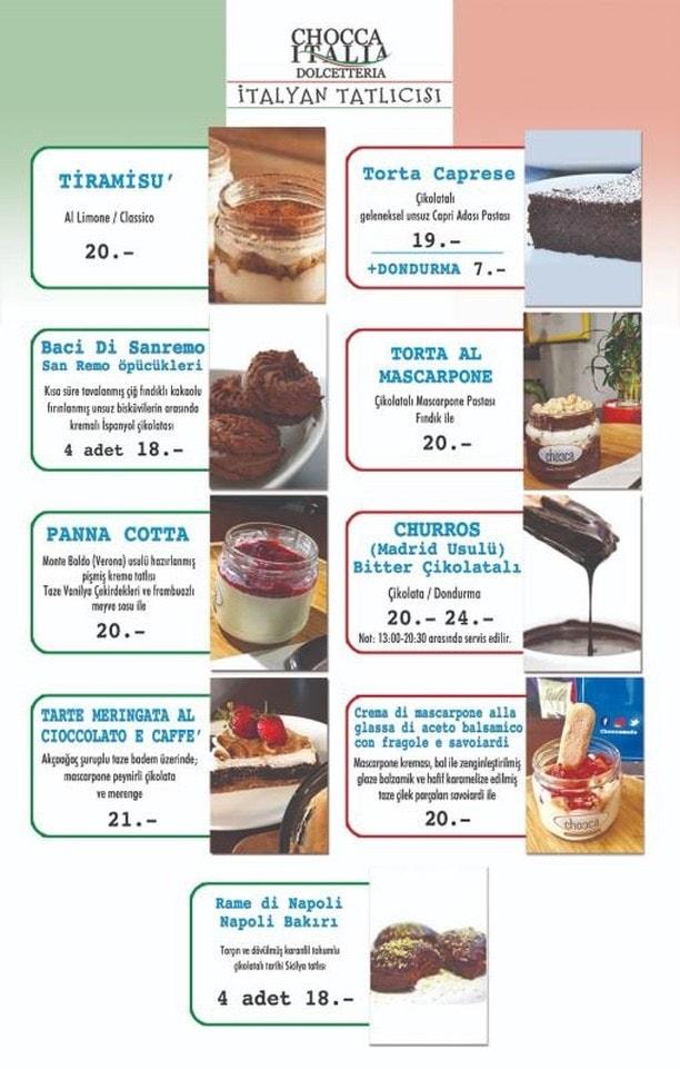 chocca moda istanbul menu fiyatlar