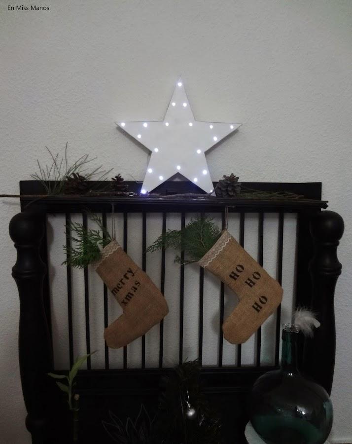 DIY Estrella para navidad con luz