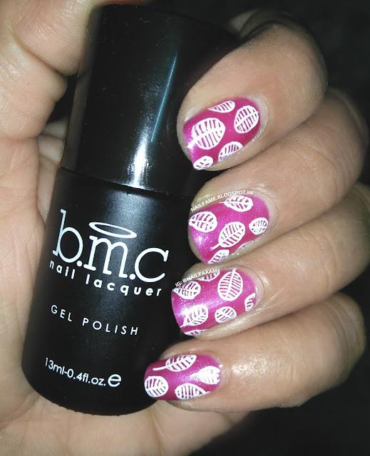 Melody Susie Elegant Magenta Gel polish Nail Art