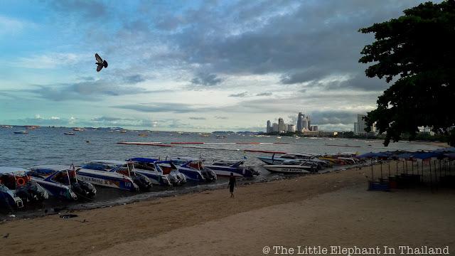 Morning at the beach of Pattaya - Thailand