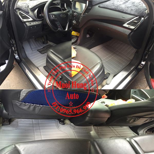Thảm Lót Sàn Ô Tô 4D Hyundai Santafe Màu Xám 01
