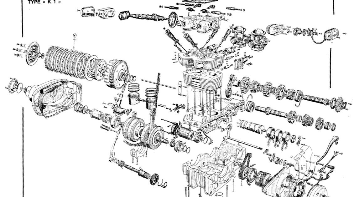 cbr 250 Schema moteur