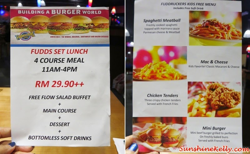FUDDS Set Lunch Set, Kids Eat For Free, Fuddruckers Malaysia, American Casual Dining, Fuddruckers Lot10, Fuddrucker, American Food