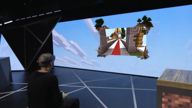 Microsoft Hololens Minecraft E3 2015