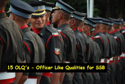 15 OLQ's - Officer Like Qualities for SSB