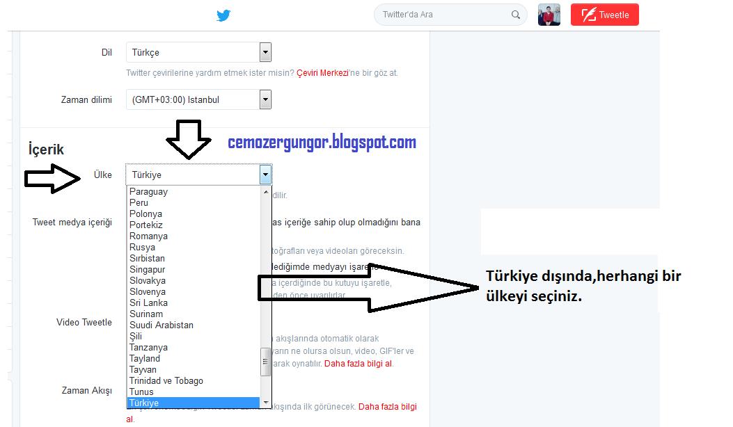 Twitter ülkede gizlenen,yasaklanan hesapları görme(Programsız)