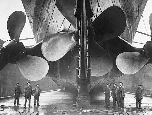 Las 3 gigantescas hélices del Titanic