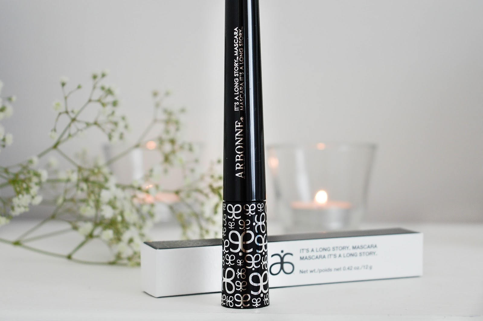 Arbonne It's a Long Story mascara review, UK beauty blogs