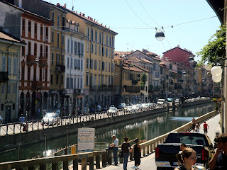 The Naviglio Grande is a colourful and lively stretch of Milan's canal system