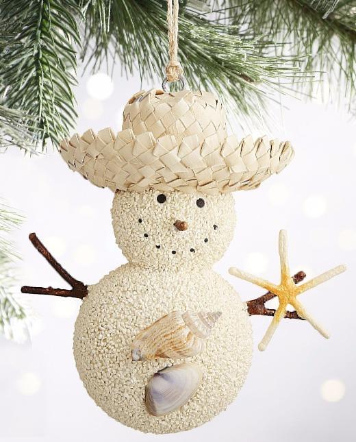 Sand Snowman Ornament