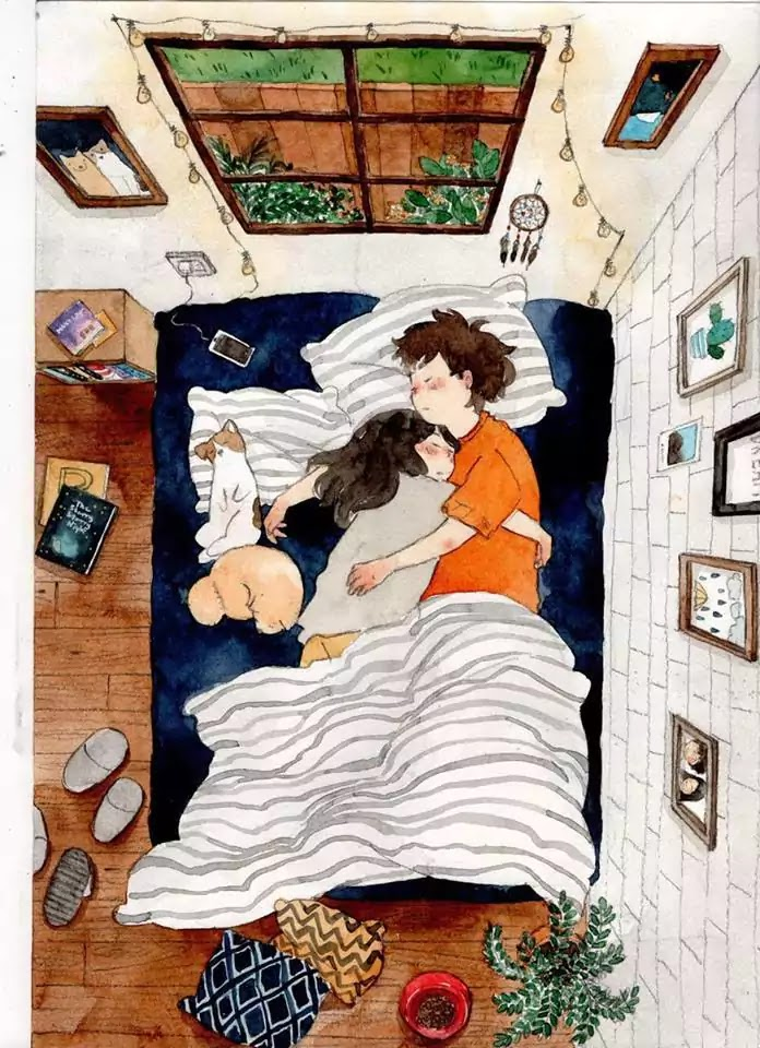 15 Romantic Illustrations By Various Artists That Depict The Phases Of A Relationship