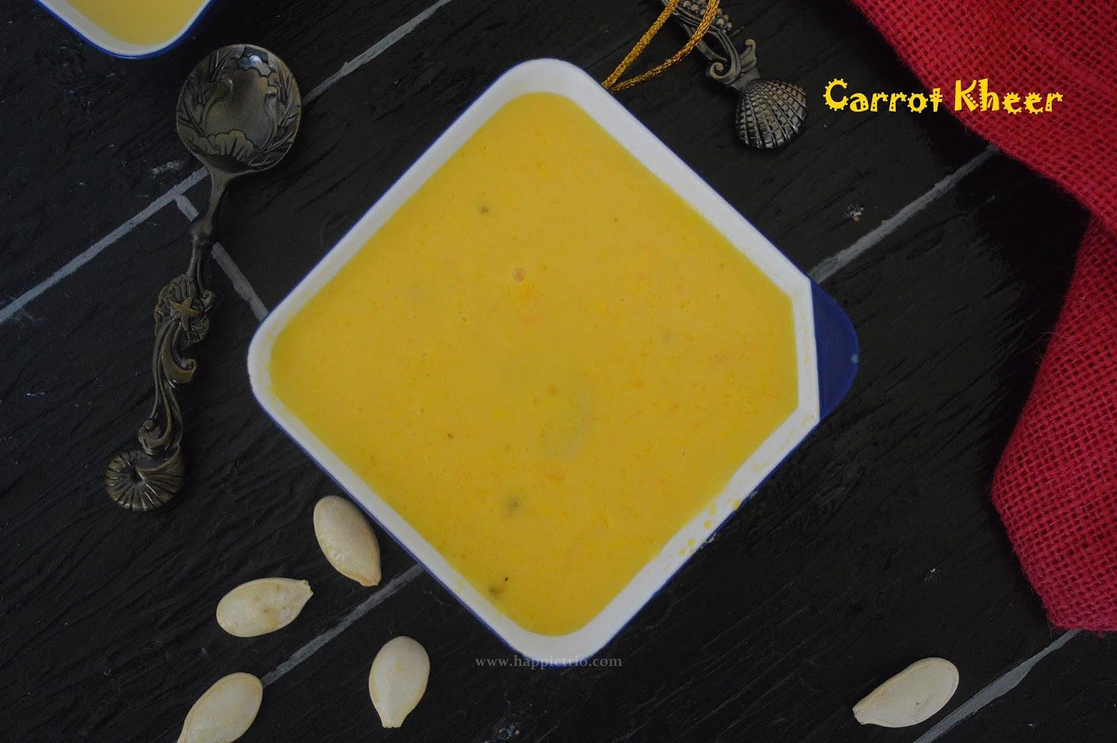 Carrot Kheer Recipe | Carrot Payasam | Gajar Kheer