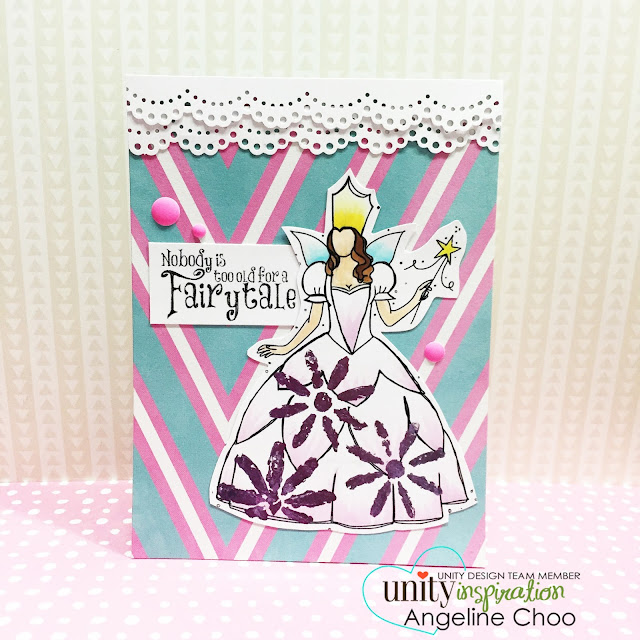 ScrappyScrappy: Unity Stamp Edgy & Cute Blog Hop + [NEW VIDEOS] - Fairytale Deco Foil Stencil Flowers card #scrappyscrappy #unitystampco #stamp #card #papercraft #stencil #tcw #thermoweb #decofoil #foil #copic #coloring  #cardmaking #youtube #handmadecard