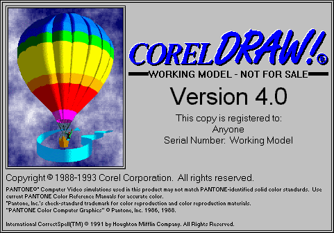 Sejarah CorelDRAW - CorelDRAW Versi 4.0 (1993)