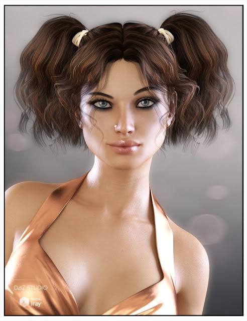 H-Lee Hair for Genesis 3 Female