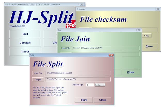 HjSplit تقسيم ودمج الملفات