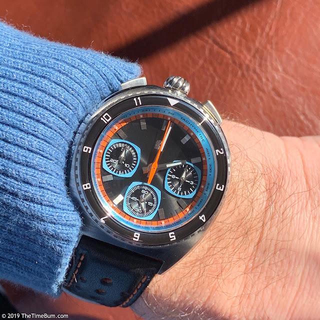 Straton Legera Bullhead Valjoux wrist shot