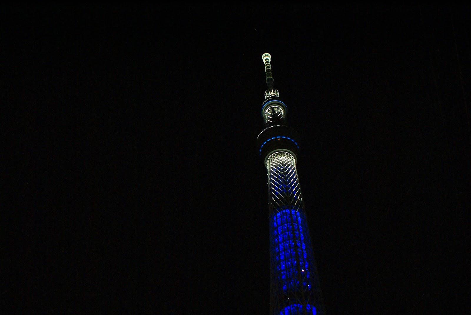 tokyo sky tree asakusa japan asia tower skyscraper night