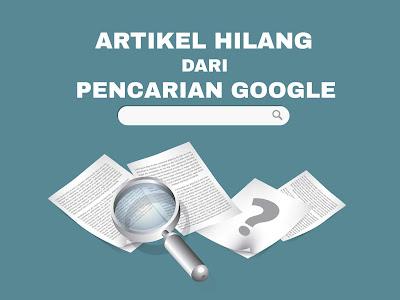 artikel hilang di google